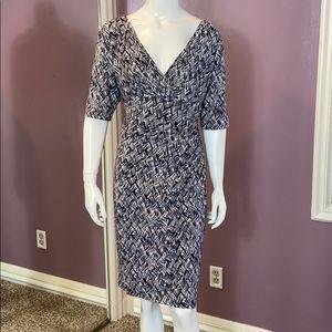 🦋 Lauren Ralph Lauren Jersey V-Neck Midi Dress